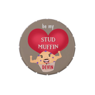 Valentine's Day Custom Stud Muffin Jelly Beans Jelly Belly Tin