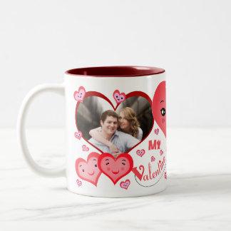 Valentine's Day Custom Two Photo Mug