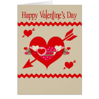Valentine's Day, customize for any business Card