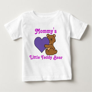 Valentine's Day Cute Brown Bear with Purple Heart Baby T-Shirt