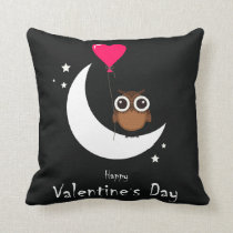 Valentine's Day Cute Owl- 2 sided Print Pillow