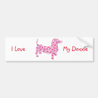 Valentine's Day Dachshund Bumper Sticker