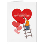 Valentine's Day Dad And Mom Cards, Red Hearts Greeting Card
