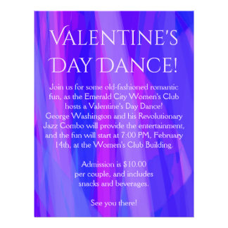Valentine's Day Dance! Blue, Pink, and Violet Flyer