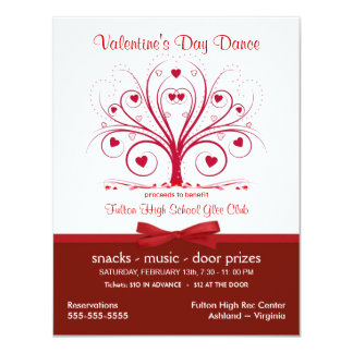 Valentine's Day Dance Party - Benefit Style Invitations