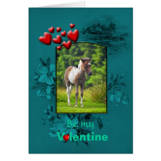 Valentines Day Dartmoor Pony Foal Card
