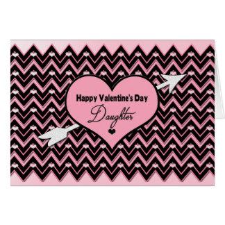 Valentine's Day - Daughter - Chevron Design Card