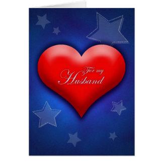 Valentine's Day Deployed Soldier Husband Card