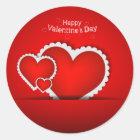Valentine's Day design Classic Round Sticker