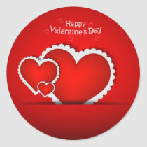Valentine's Day design Classic Round Sticker