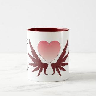 Valentine's day design Two-Tone coffee mug