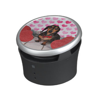 Valentine's Day - Dexter - Dachshund Bluetooth Speaker
