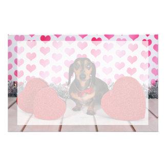 Valentine's Day - Dexter - Dachshund Stationery