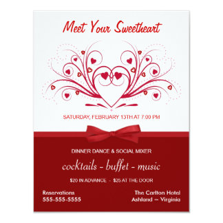 Valentine's Day Dinner Dance - Corporate Style Card