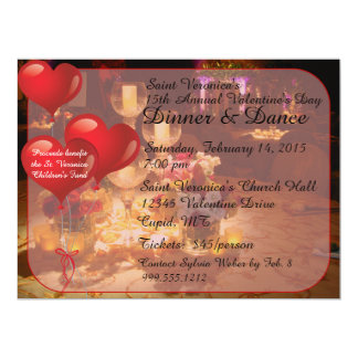 Valentine's Day Dinner Dance Invitations