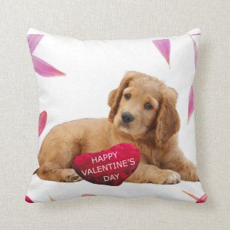 Valentine's Day Dog heart pillow
