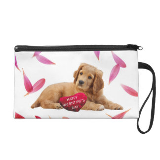 Valentine's Day Dog heart wristlet