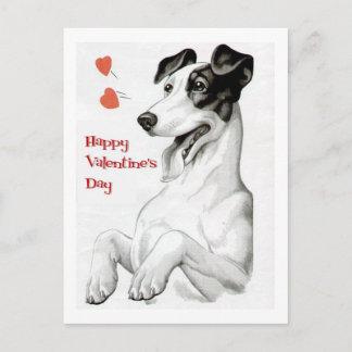 Valentines Day Dog Holiday Postcard
