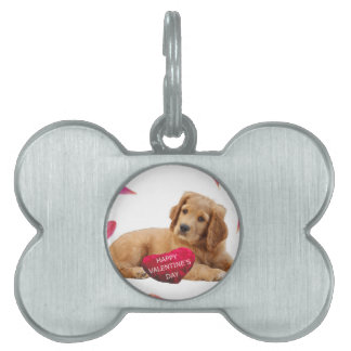 Valentine's Day Dog Photo Pet ID Tag