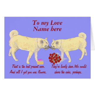 Valentine's Day Doggy Couple Card