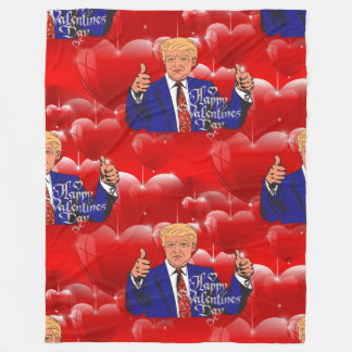 valentines day donald trump blanket