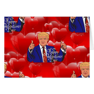 valentines day donald trump card