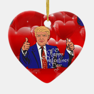 valentines day donald trump ceramic ornament