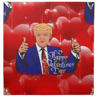 valentines day donald trump cloth napkin