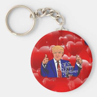 valentines day donald trump keychain