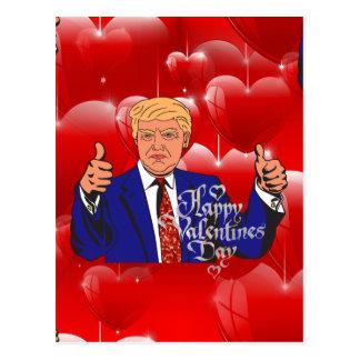 valentines day donald trump postcard
