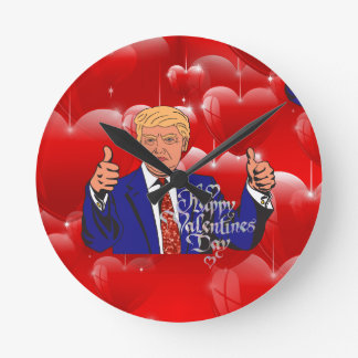 valentines day donald trump round clock