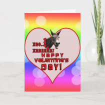 VALENTINE'S DAY DONKEY HEE HAW! HOLIDAY CARD