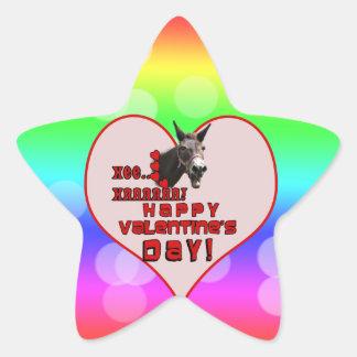 VALENTINE'S DAY DONKEY HEE HAW! STAR STICKER