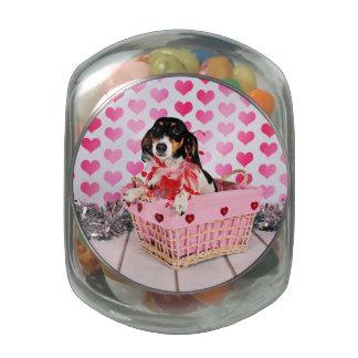 Valentine's Day - Dottie - Dachshund Jelly Belly Candy Jars