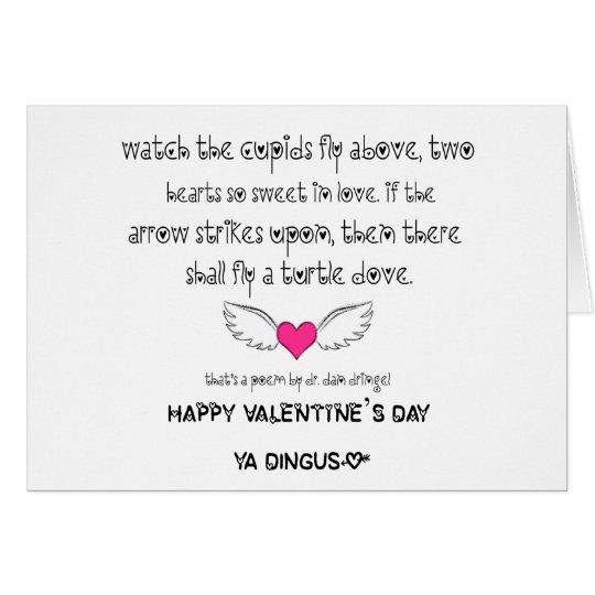 VALENTINES DAY Dr Steve Brule POEM Card – Valentine Card Poem
