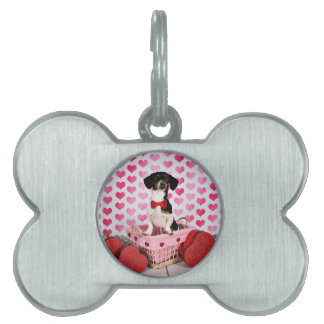 Valentine's Day - Ducky - Dachshund Pet Name Tag