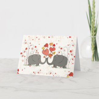 Valentine's Day Elephants Cards