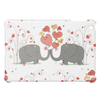 Valentine's Day Elephants iPad Mini Cases