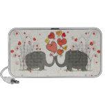Valentine's Day Elephants Laptop Speakers