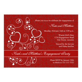 Valentine's Day Engagement Party Invitation