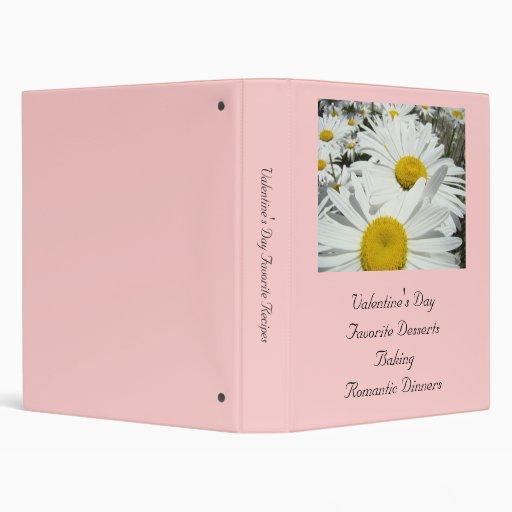 Valentine's Day favorite recipes binder Daisies