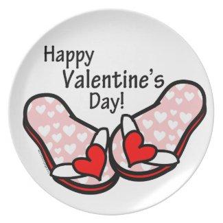 Valentine's Day Flip Flops Dinner Plate
