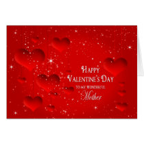 Valentine's Day-Floating Hearts/Stars - MOTHER Card