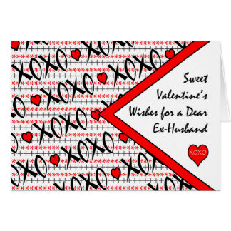 Valentine's Day for Ex-Husband, XOXO Design Card