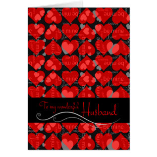 Valentine's Day For Husband Card at Zazzle
