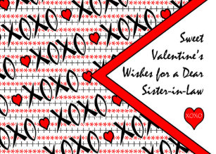 Valentine's Day for Sister in Law, XOXO Design Holiday Card