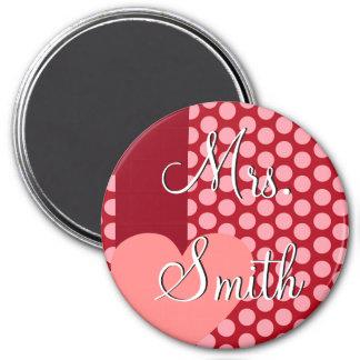 Valentine's Day for Teacher 3 Inch Round Magnet
