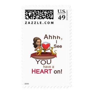 Valentine's Day Fortune Teller Postage