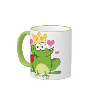 Valentine's Day Frog Kiss Ringer Mug