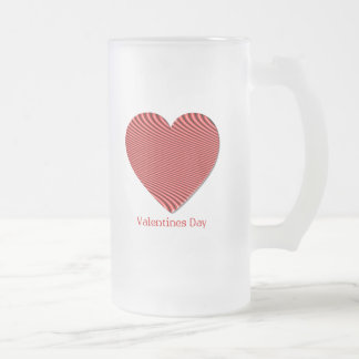Valentine's Day Frosted Beer Mug